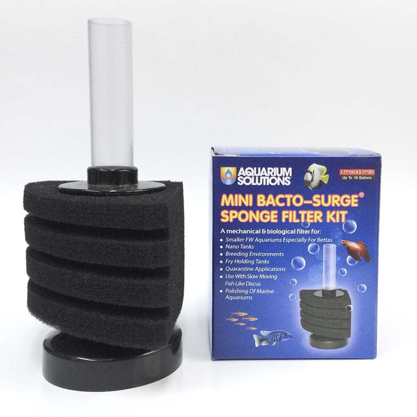 Aquarium Solutions Mini Bacto-Surge Sponge Filter Kit 10gal