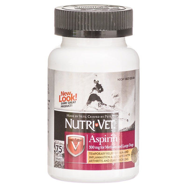 Nutri-Vet K9 Aspirin Liver Chewables Medium/Large Dog 75ct