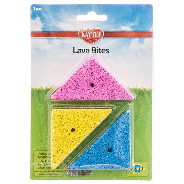 Kaytee Lava Bites Small Animal Chews 3pk