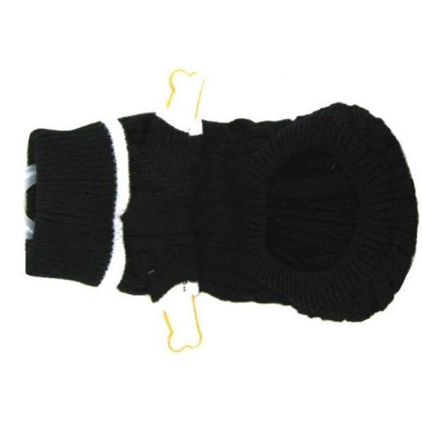 lookin' good! by Fashion Pet Classic Cable Sweater Black in Extra Small