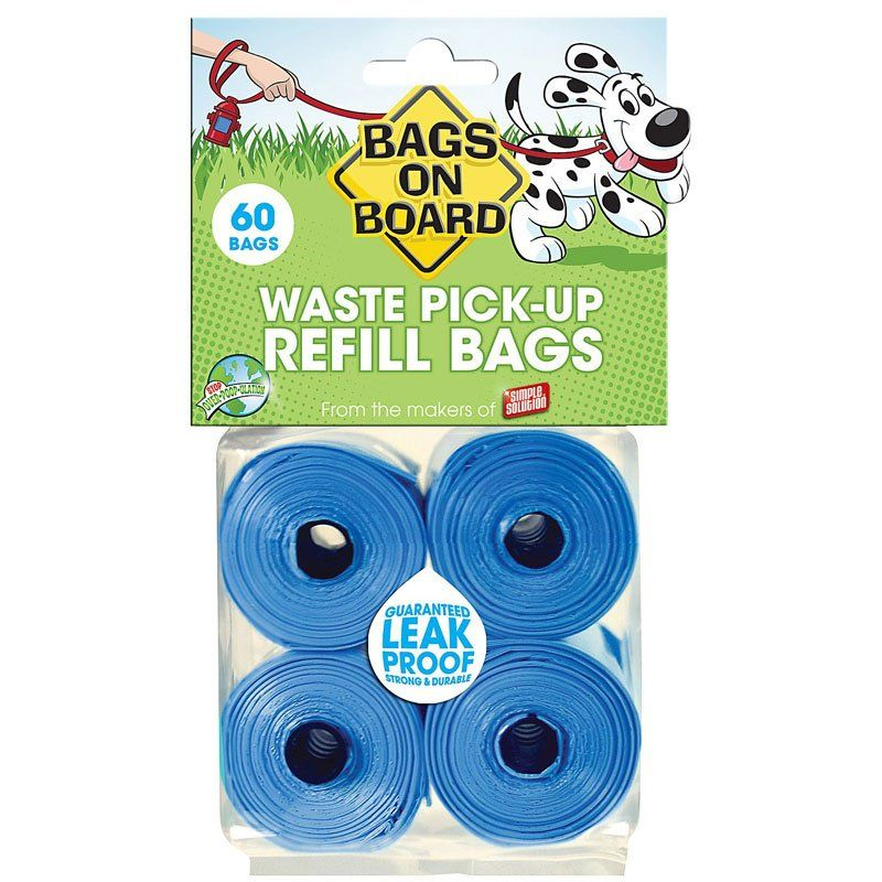 Bags on Board Waste Pick-up Bags Refill Blue 60 bags