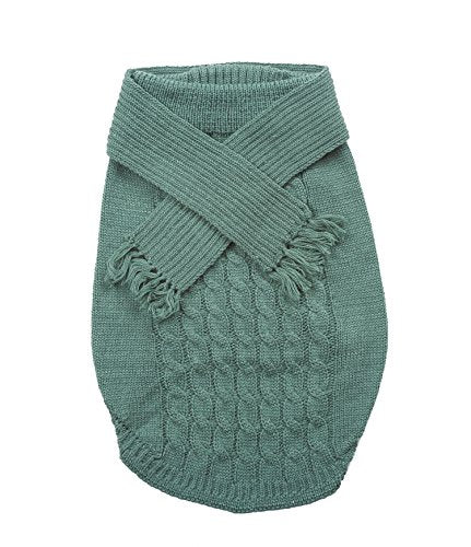Ethical Pet Scarf Sweater Sage Lge