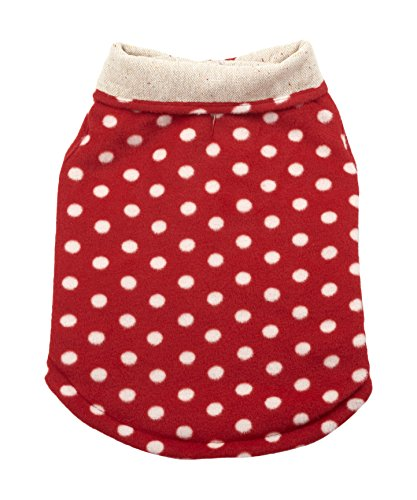 Ethical Pet Tweed Coat Red Polka Dot S