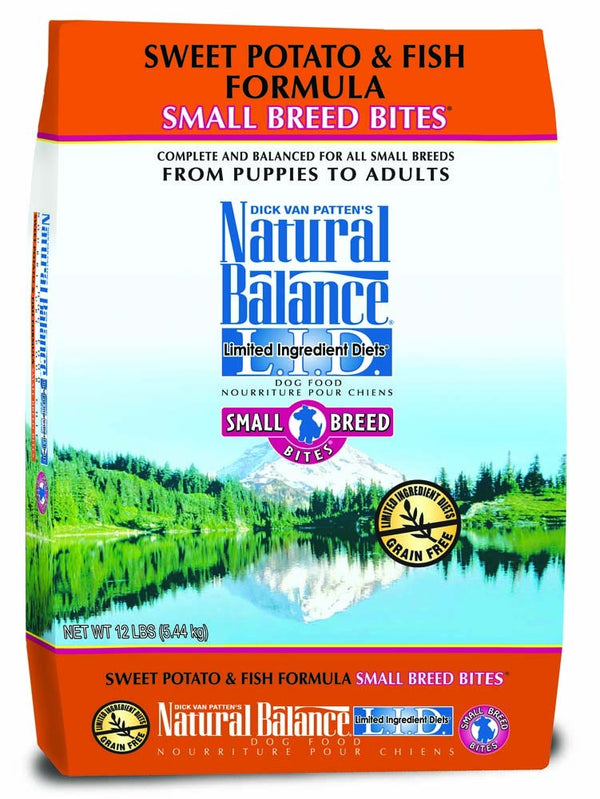 Natural Balance Limited Ingredient Diet Sweet Potato & Fish Small Breed Bites Dry Dog Food 12lb