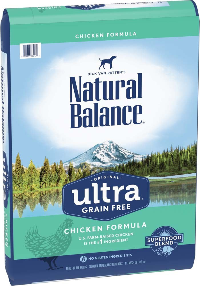 Natural Balance Ultra Grain Free Chicken Formula Dry Dog Food 24lb