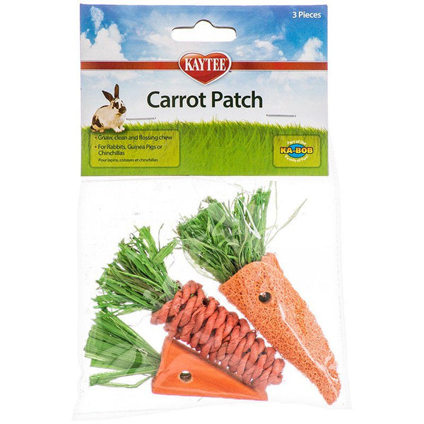 Kaytee Chew Toy Carrot Patch 3Ct