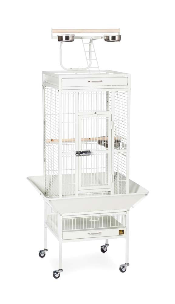 Prevue Pet Products Wrought Iron Select Cage Chalk White 18x18x57in