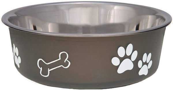Loving Pets Bella Dish Classic Dog Dish Espresso Medium