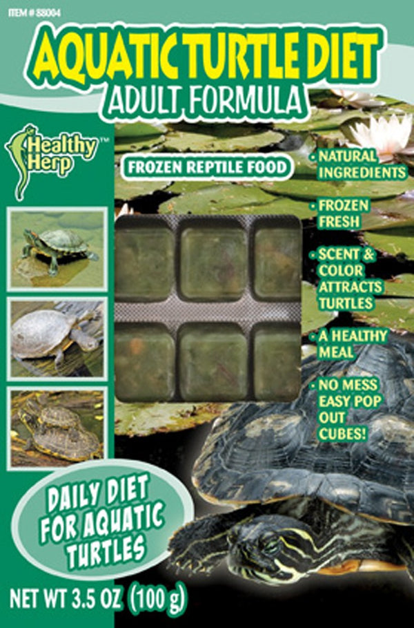 Healthy Herp Frozen Aquatic Turtle Diet Reptile Food Adult 3.5oz