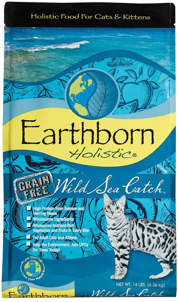 Earthborn Cat Grain Free Wild Sea Catch 14Lb