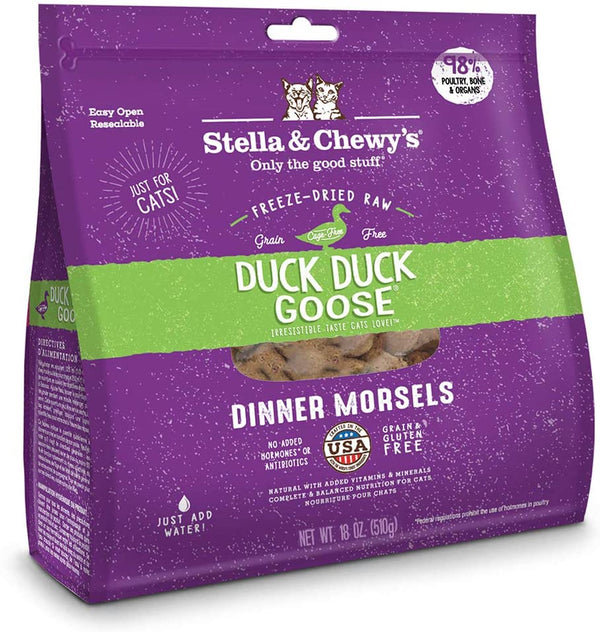Stella & Chewy'S Cat Freeze-Dried Duck Duck Goose Dinner 18oz