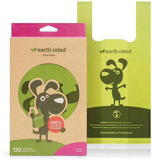 earth Rated Poop Bag Dog Lavendar 120 Count W Handle