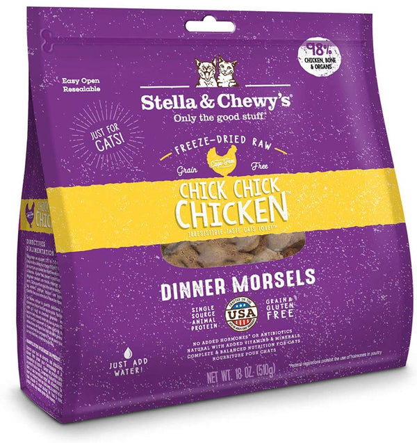 Stella & Chewy'S Cat Freeze-Dried Chick Chick Chicken Dinner 18oz