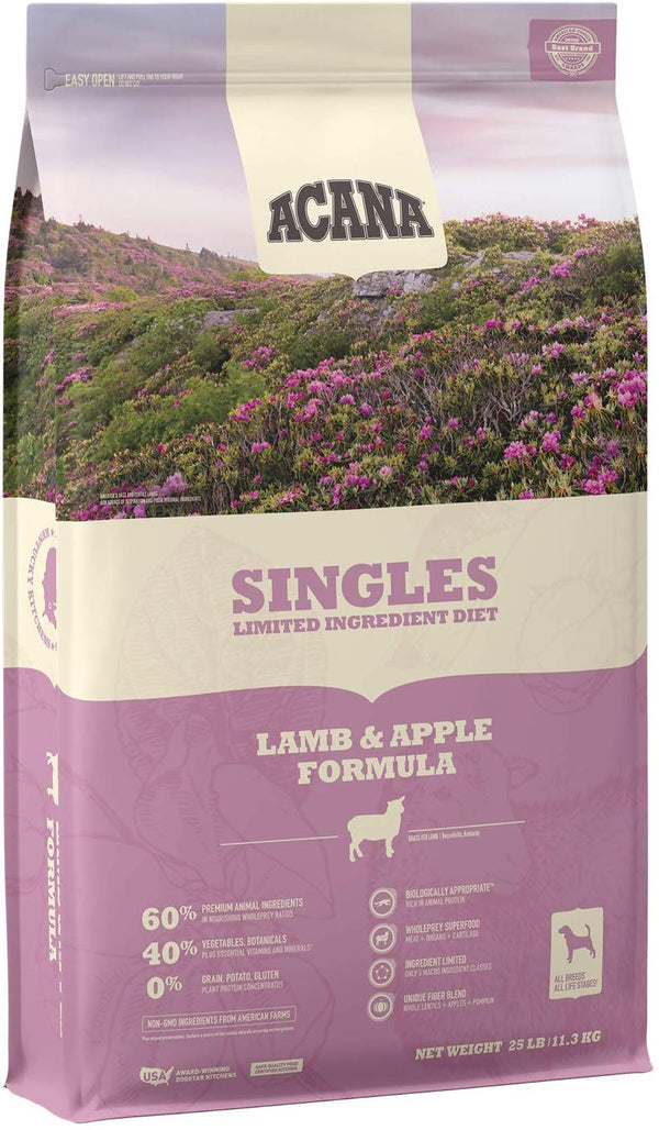 Acana Dog Singles Lamb & Apple 25Lb