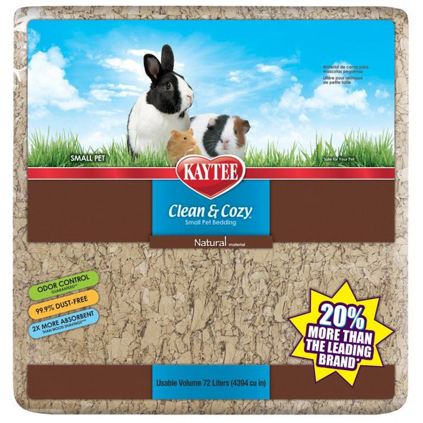 Kaytee Clean & Cozy Small Animal Bedding Natural 72L