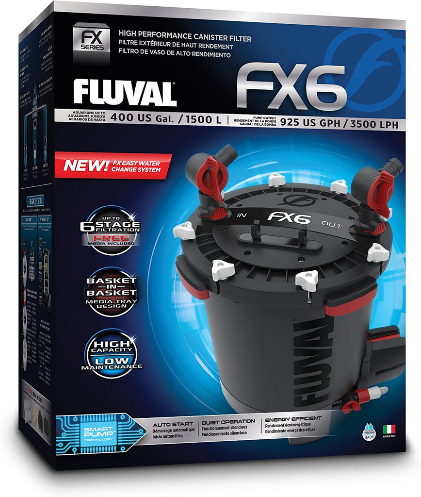 Fluval FX6 High Performance Canister Filter - 925 GPH (Up to 400 Gallons)