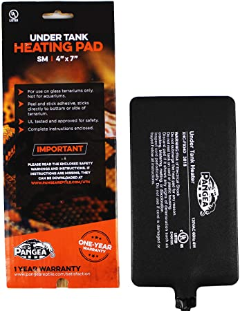 "Pangea Small Under Tank Heater - Mat; Small 4x7"", 1-5 gallon"