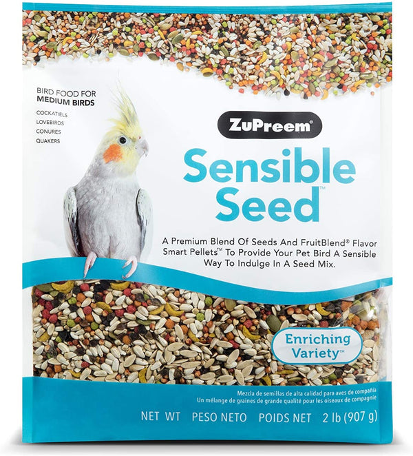 ZuPreem Sensible Seed Bird Food for Medium Birds 2lb