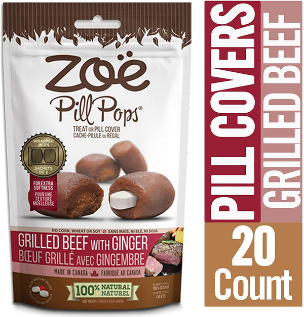 Zoe Pill Pops Grilled Beef & Ginger 3.5oz