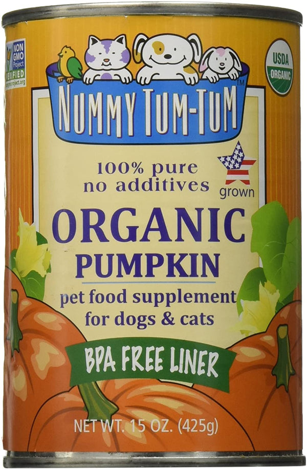 Nummy Tum Tum For All Pets 100% Pure Organic Pumpkin 15oz