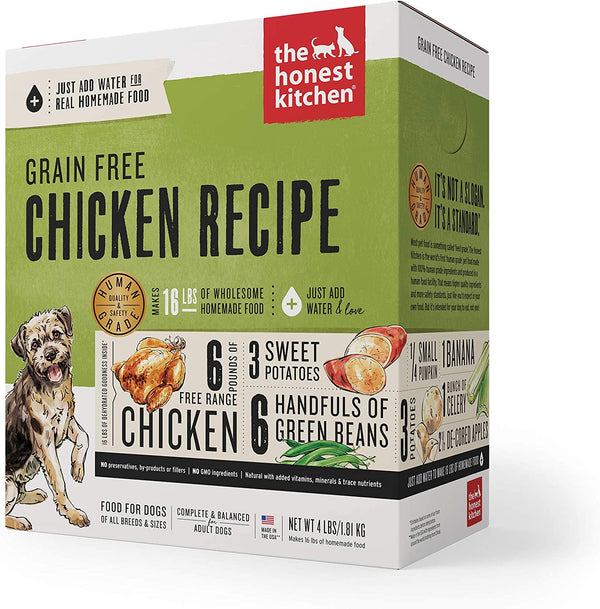 The Honest Kitchen Dog Grain Free Chicken 4lb Box