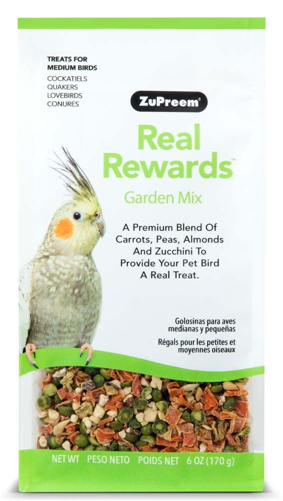 ZuPreem Real Rewards Garden Mix Medium Bird Treats 6oz