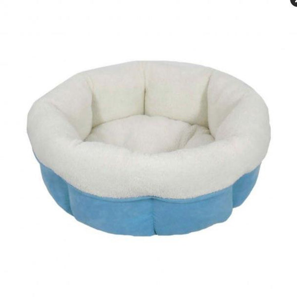 Rover Rest Peanut Cuddle Cup Dog Bed Blue 20 X 20 X 8 Inch