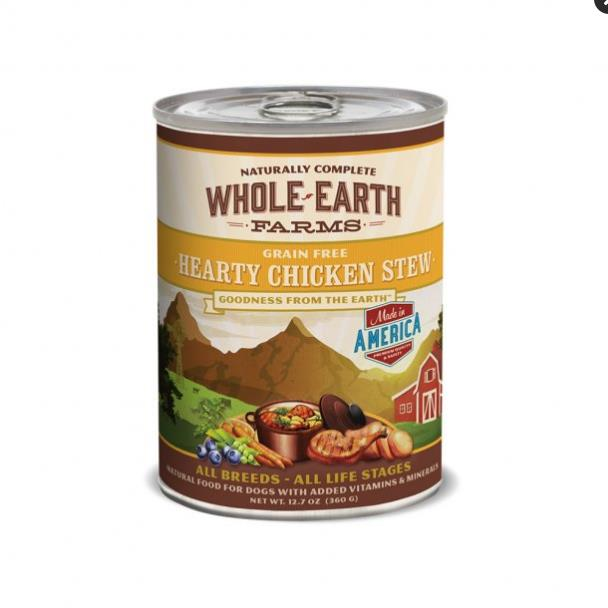 Whole Earth Farms Goodness from the Earth Grain Free Hearty Chicken Stew Dog Food 12.7 Oz