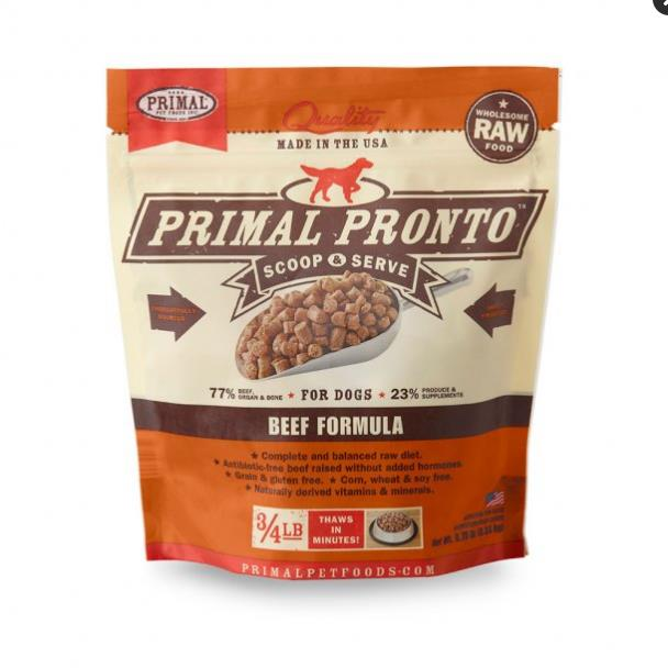 PPF Pronto Raw BF Dog     .75#