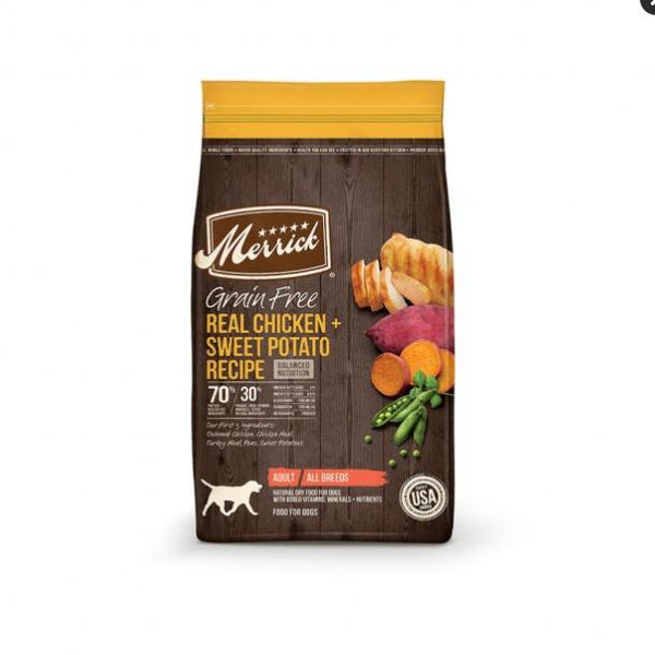 Merrick Grain Free Chicken + Sweet Potato 22lb