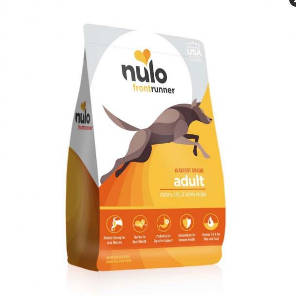 Nulo Frontrunner Chicken, Oats & Turkey Dry Dog Food 3lb