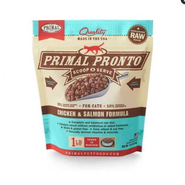 Primal Cat Pronto Chicken & Salmon 1Lb