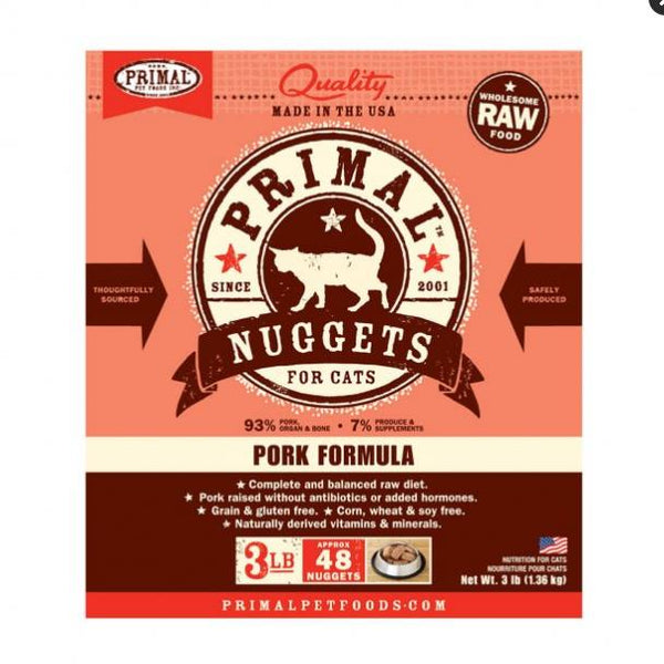 Primal Cat Nugget Pork 3Lb