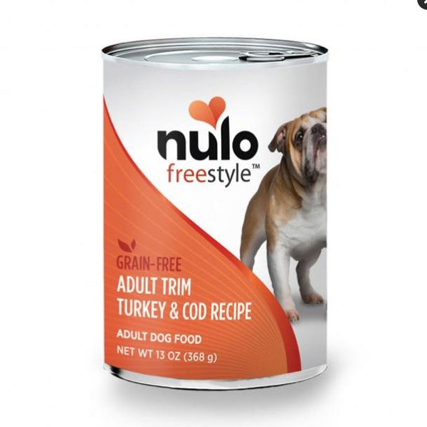 Nulo FreeStyle Trim Grain Free Turkey Cod Dog Food 12ea/13oz