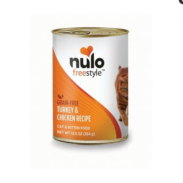 Nulo Freestyle Grain Free Turkey & Chicken Recipe Pate Cat Food 12.5 Oz