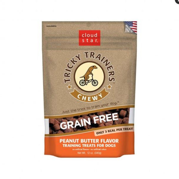 Cloud Star Dog Tricky Trainer Grain Free Chewy Peanut Butter 12oz