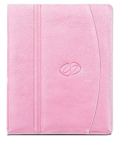Custom leather iPad case 9.7 in Pink by MacCase
