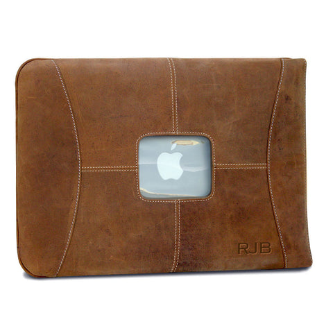 "Custom leather mac case sleeve for 15"" MacBook Pro"