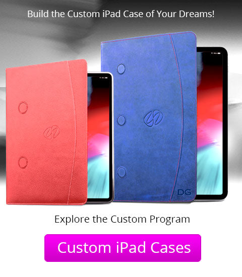 Custom leather iPad cases by MacCase