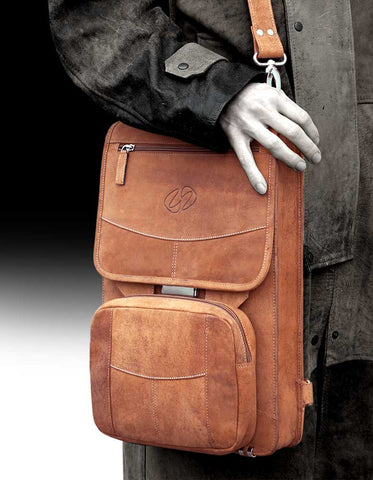 The MacCase Premium Leather Flight Case Leather Briefcase