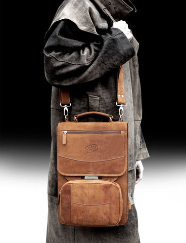 The MacCase Premium vintage leather briefcase