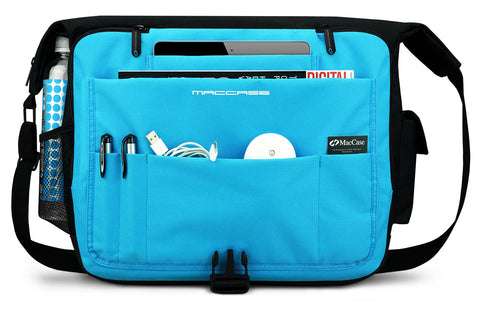 Front panel view of the MacCase Universal Laptop + Tablet messenger bag