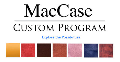 Swatches for the MacCase custom leather ipad case program