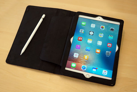 Open view of the new leather ipad pro 9.7 folio from MacCase