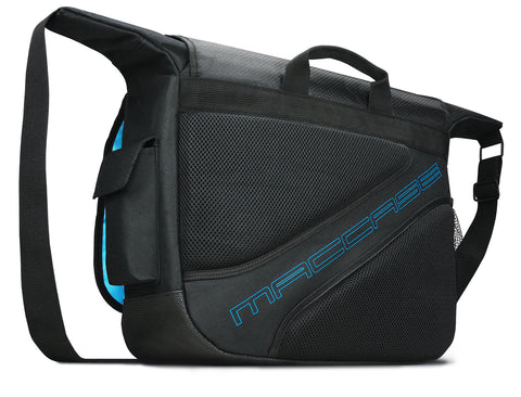 Rear view of the MacCase Universal Laptop + Tablet messenger bag