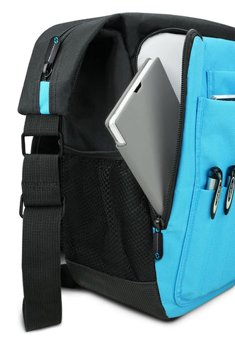 Dual side pockets hold phones, phablets and tablets in the new macase messenger bags