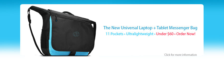 The new web banner for the new universal messenger bag