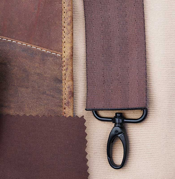 Working on the details of a MacCase leather flight jacket