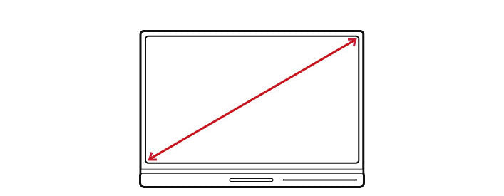 Infographic on how to measure a laptop size
