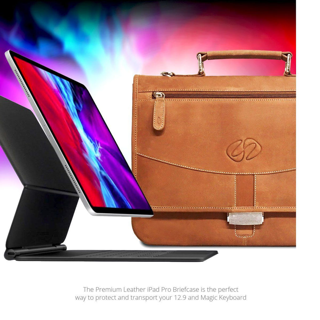 Stunning 12.9 Leather iPad Pro Briefcase for 2021 by MacCase